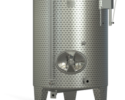 Garde vin inox sur pieds fond conique chapeau flottant finition intèrieure : 2R RECUIT BRILLANT